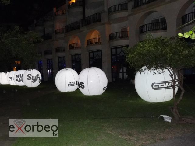 Diversas decorações para o evento fechado da Globosat