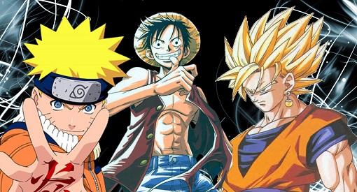 Naruto, One Piene e DBZ: Sucessos mundo à fora