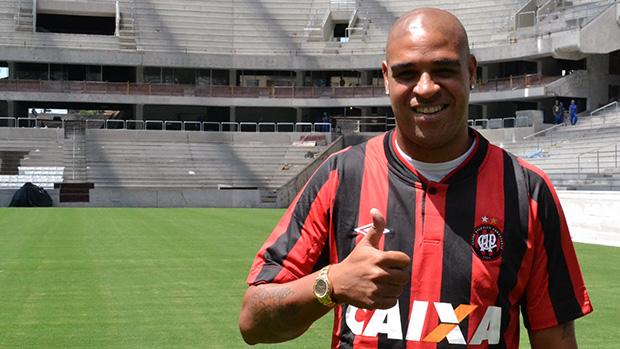 Adriano no atlético-Paranaense