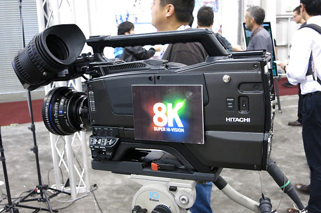 Na imagem uma das câmeras 8K que estão nos estádios brasileiros