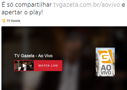 Assistir TV Gazeta Ao Vivo Online