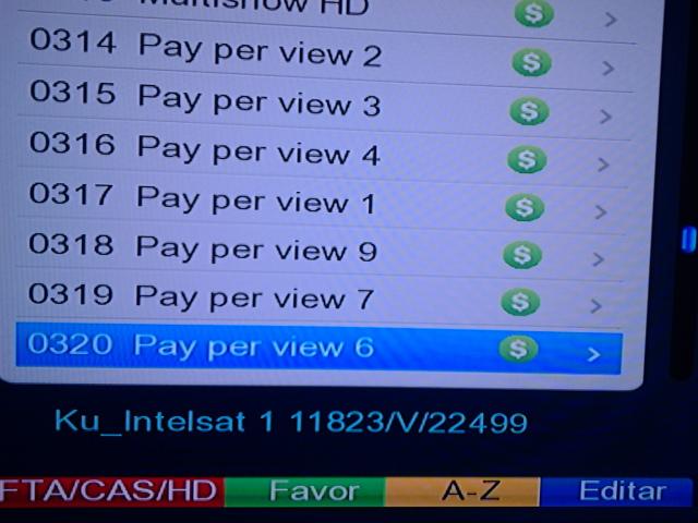 Na imagem que circula pela internet vemos os canais PPV da OI TV sendo testados no satélite